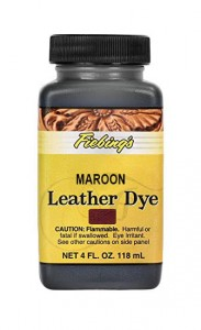 Fiebing's Leather Dye - MAROON 4oz